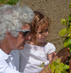 Jim & Ella in Ella's Vineyard
